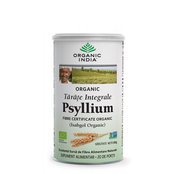 Tarate integrale de psyllium (fara gluten) BIO Organic India - 100 g