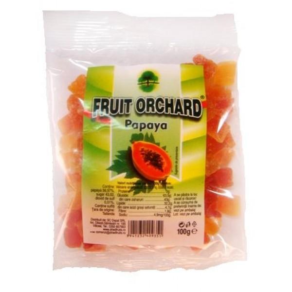 Papaya confiata cuburi  - 100 g