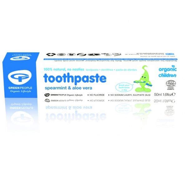 Pasta de dinti cu menta si aloe vera (pt copii) BIO - 50 ml
