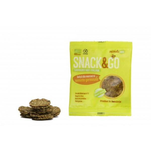 Snack & GO picant cu seminte germinate BIO Petras Bio - 40 g