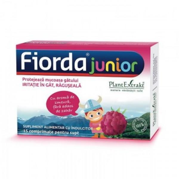 Fiorda de copii (aroma zmeura) PlantExtrakt  - 15 comprimate de supt
