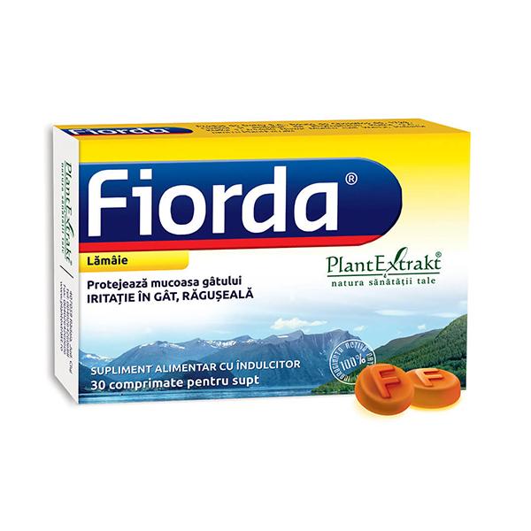Fiorda de adulti (aroma lamaie) PlantExtrakt  - 30 comprimate de supt