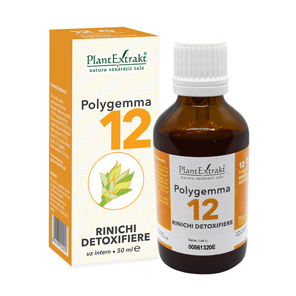 Polygemma nr 12 (rinichi si detoxifiere) PlantExtrakt - 50 ml