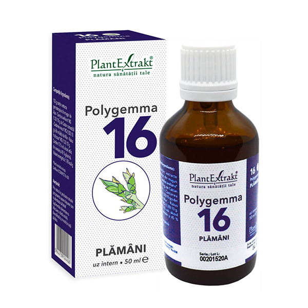 Polygemma nr 16 (plamani si detoxifiere) PlantExtrakt - 50 ml