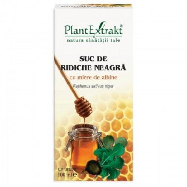 Suc de ridichie neagra cu miere PlantExtrakt - 100 ml