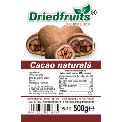 Cacao naturala (deschisa) - 500 g