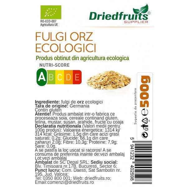 Fulgi orz BIO Driedfruits - 500 g
