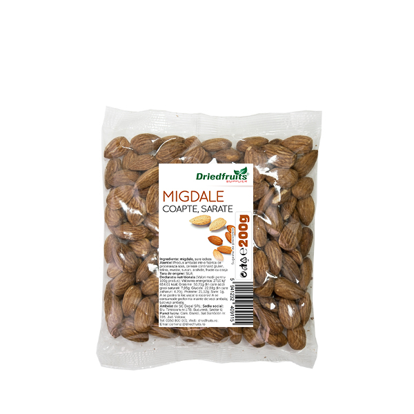 Migdale coapte si sarate Sunlit - 200 g