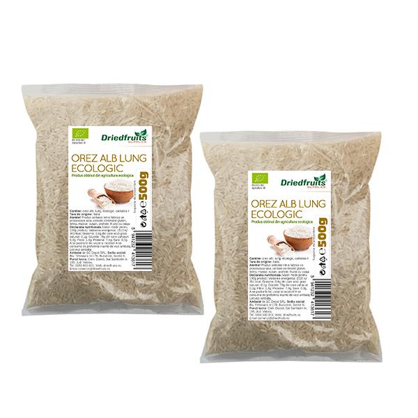 Orez alb lung BIO Agricultura UE - 500 g x 2 Buc (PROMO - 10%)