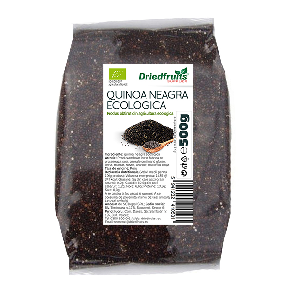 Quinoa neagra BIO Driedfruits - 500 g
