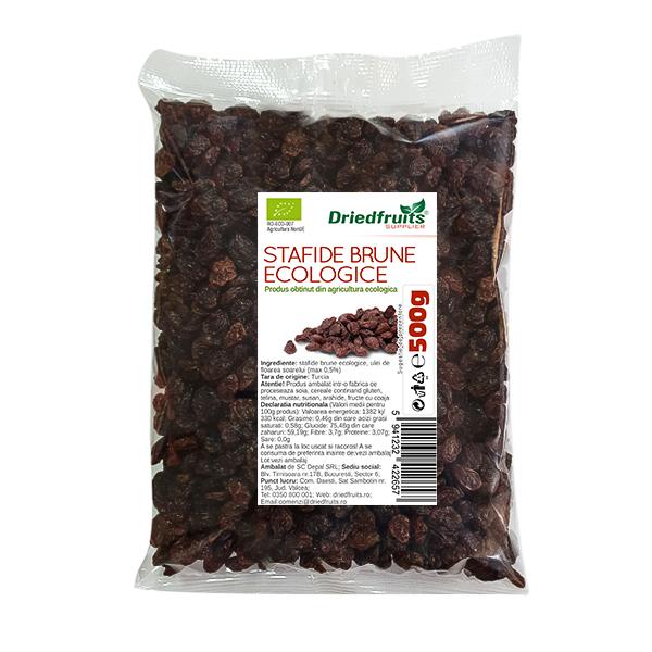 Stafide brune deshidratate BIO - 500 g