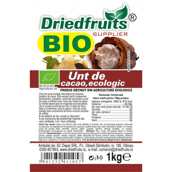 Unt cacao alimentar BIO - 1 kg