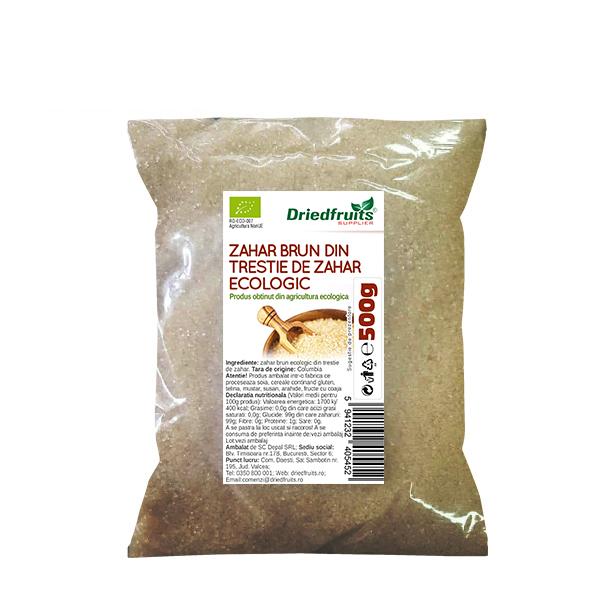 Zahar brun BIO (din trestie de zahar) Driedfruits - 500 g