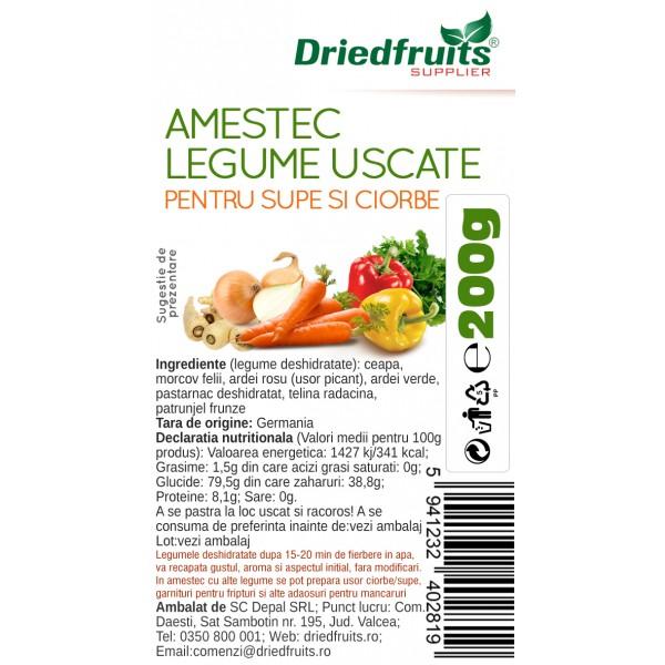 Amestec legume pentru supe si ciorbe (usor picant) - 200 g