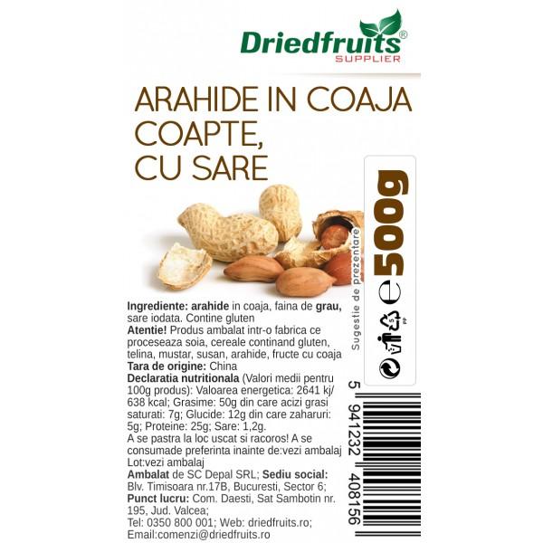 Arahide in coaja coapte si sarate (alune de pamant) - 500 g