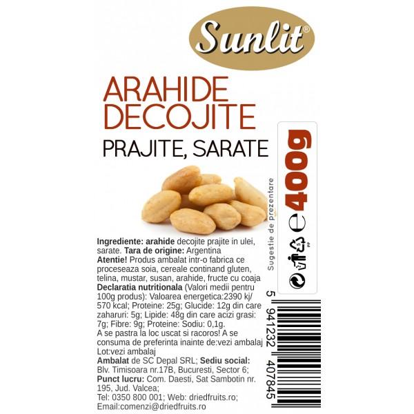 Arahide decojite prajite si sarate (albe) Sunlit - 400 g