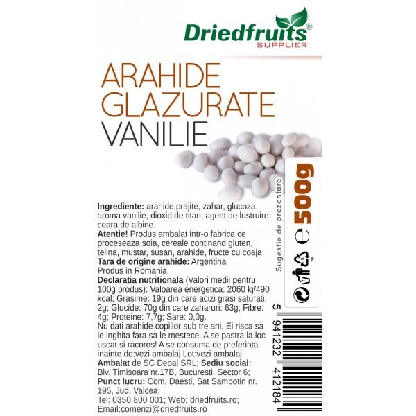 Arahide glazurate vanilie - 500 g