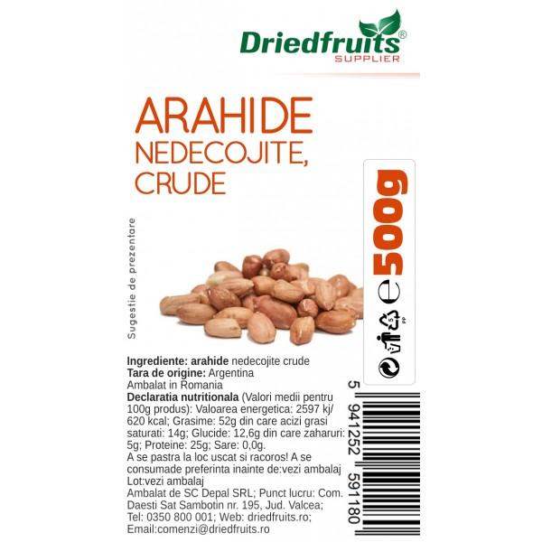Arahide nedecojite crude (rosii)  - 500 g