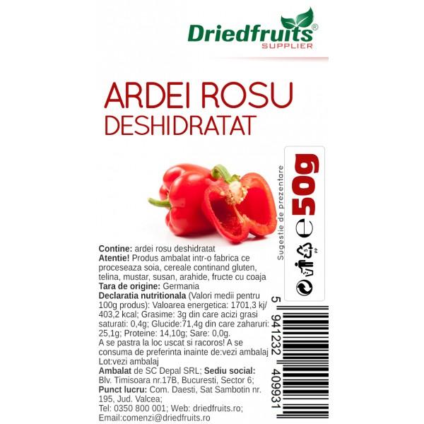 Ardei rosu uscat (usor picant) - 50 g
