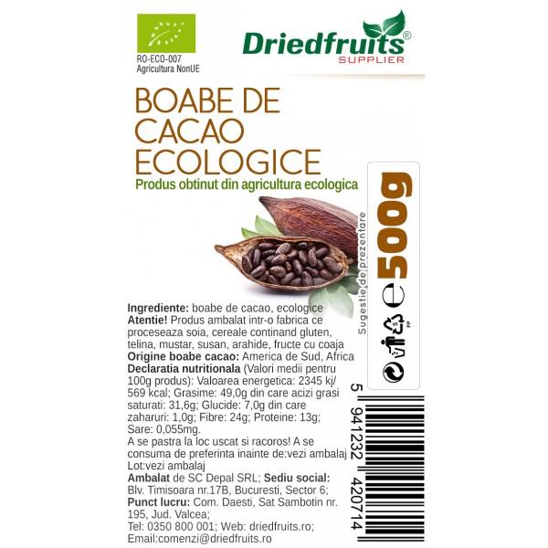 Boabe cacao BIO - 500 g