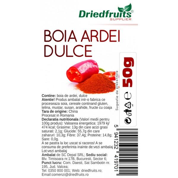 Boia ardei dulce pudra - 50 g