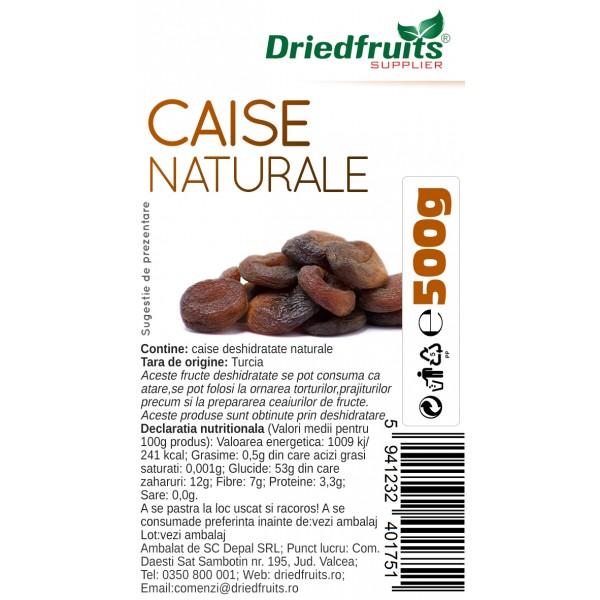 Caise deshidratate naturale - 500 g