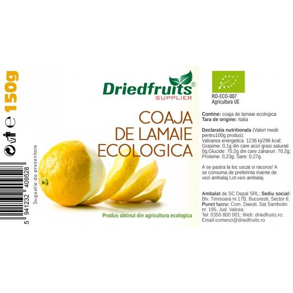 Coaja lamaie confiata BIO Driedfruits - 150 g
