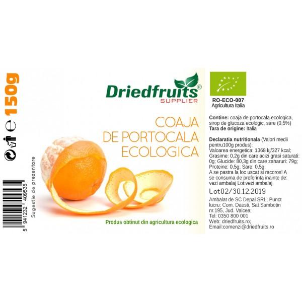 Coaja portocala confiata BIO - 150 g