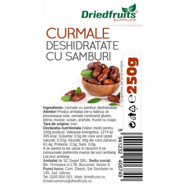 Curmale deshidratate cu samburi - 250 g