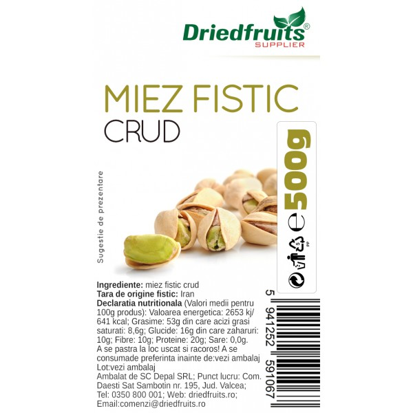Miez fistic crud - 500 g