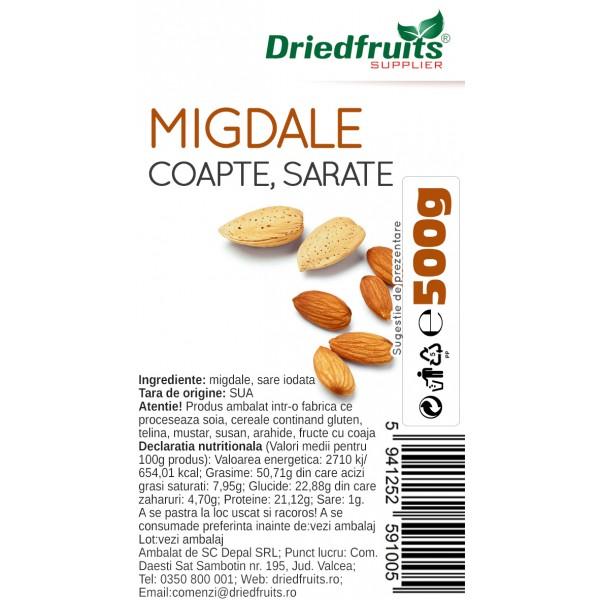 Migdale coapte si sarate calitatea I Driedfruits - 500 g