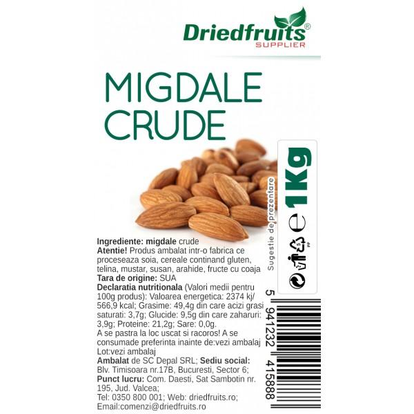 Migdale crude calitatea I California Supreme - 1 kg