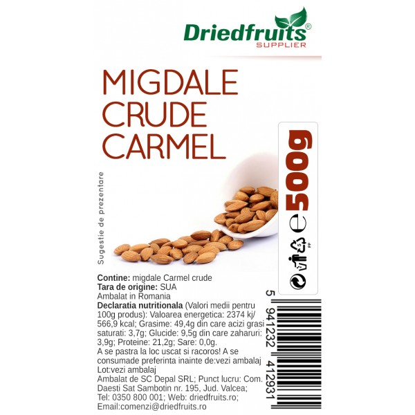 Migdale crude Carmel Supreme  - 500 g