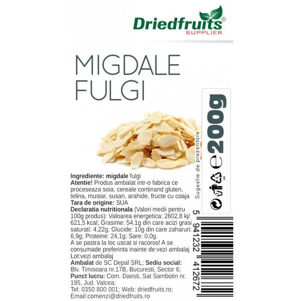 Migdale fulgi - 200 g
