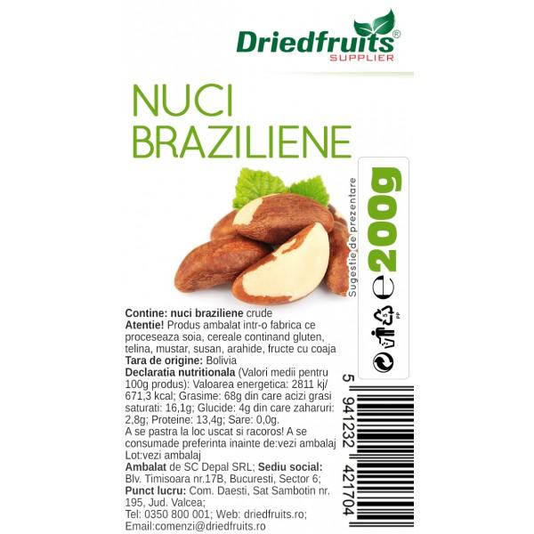 Nuci braziliene crude  - 200 g