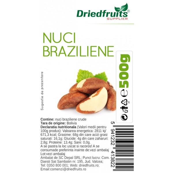 Nuci braziliene crude - 500 g