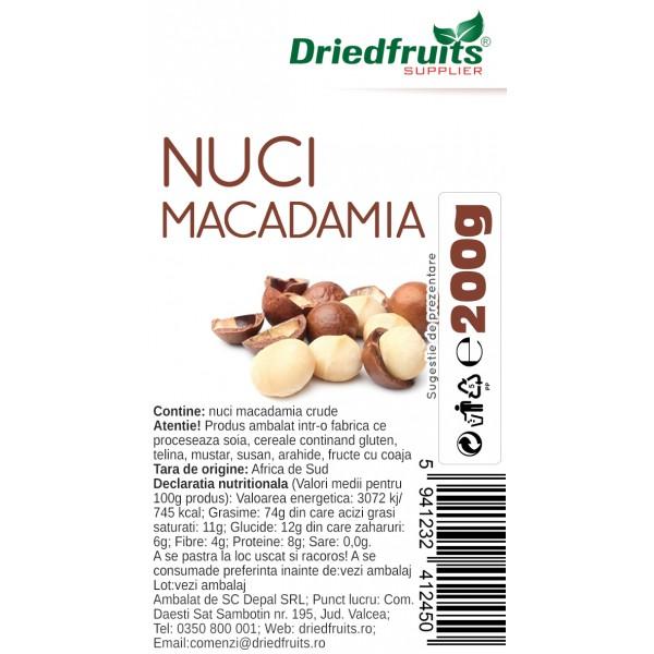 Nuci Macadamia crude - 200 g