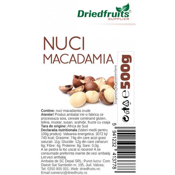 Nuci Macadamia crude - 500 g
