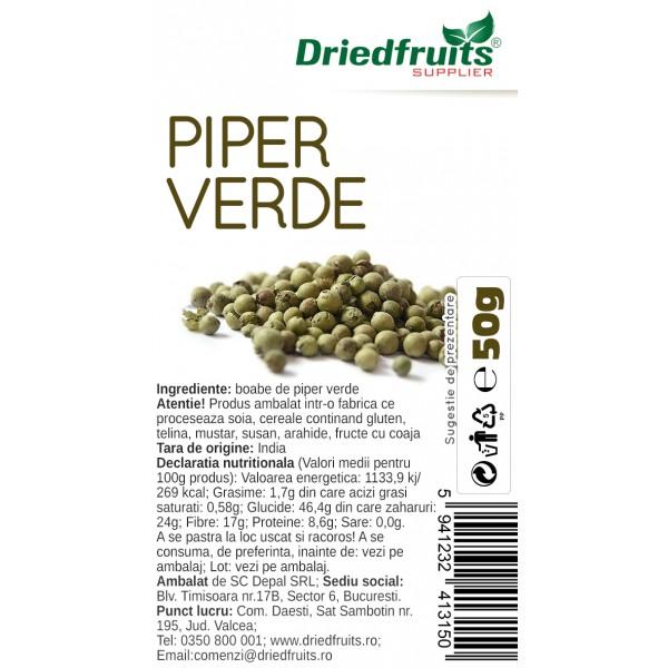 Piper verde boabe - 50 g