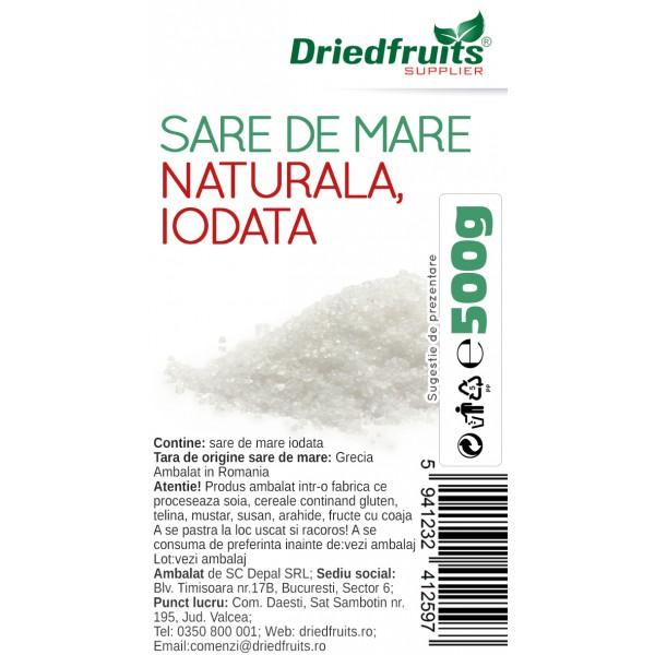 Sare de mare (extra fina) iodata - 500 g