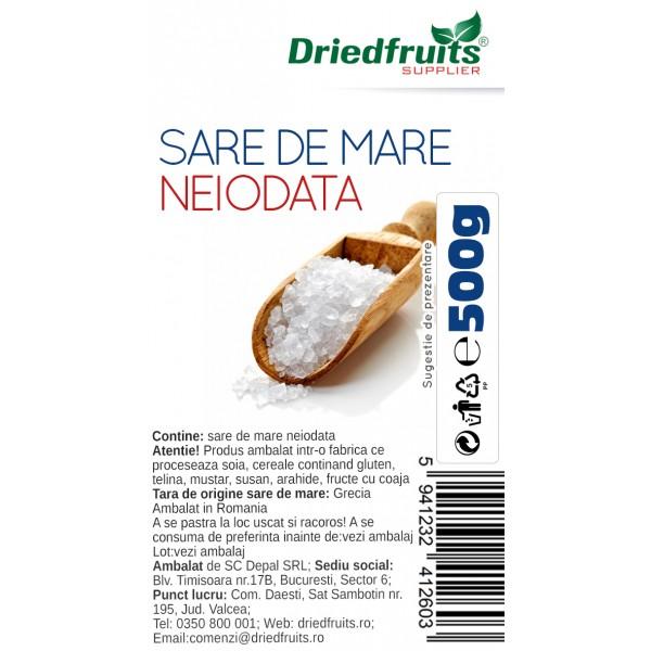 Sare de mare (grunjoasa) neiodata - 500 g