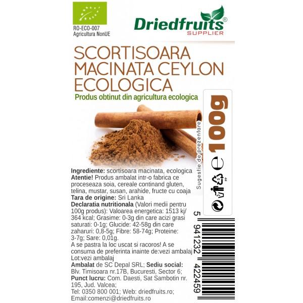 Scortisoara macinata Ceylon BIO - 100 g
