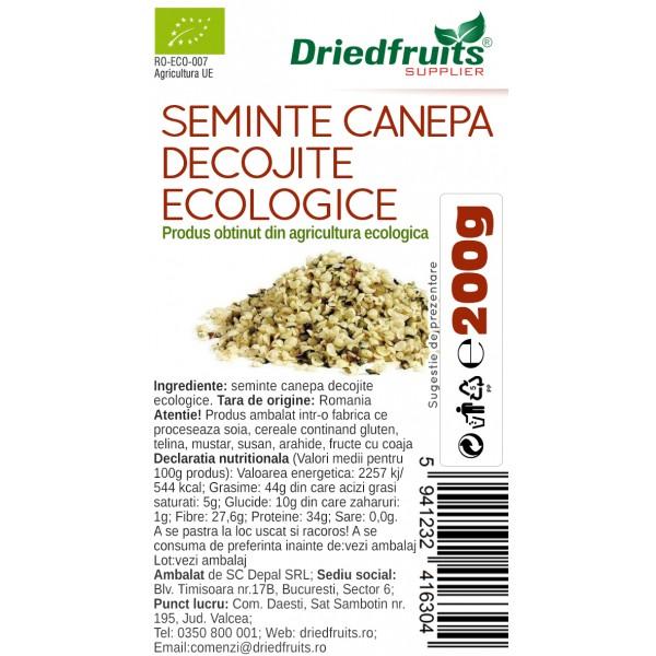 Seminte decojite canepa BIO - 200 g