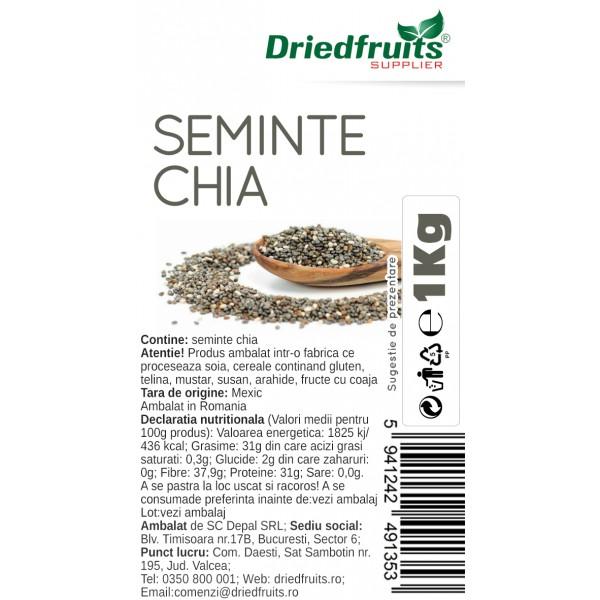 Seminte chia Driedfruits - 1 kg