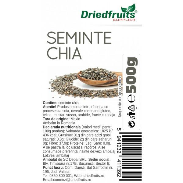 Seminte chia Driedfruits - 500 g