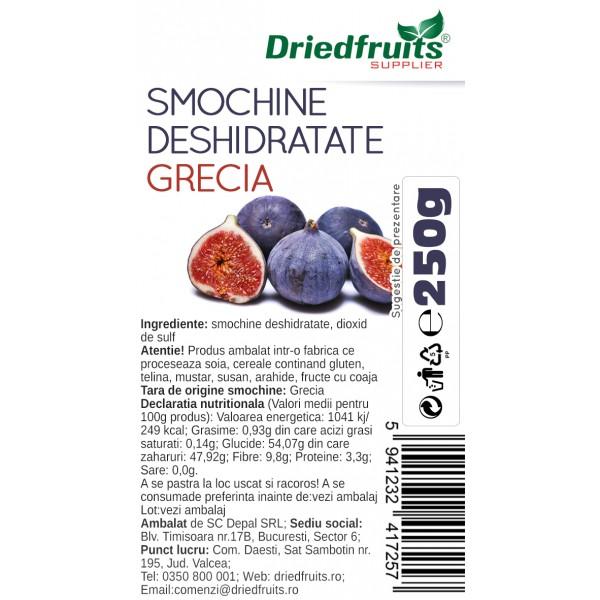 Smochine deshidratate calitatea I Grecia - 250 g