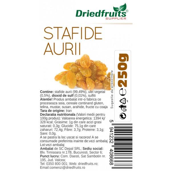 Stafide aurii deshidratate Driedfruits - 250 g
