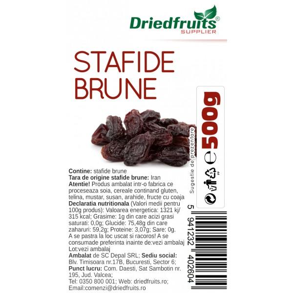 Stafide brune deshidratate - 500 g