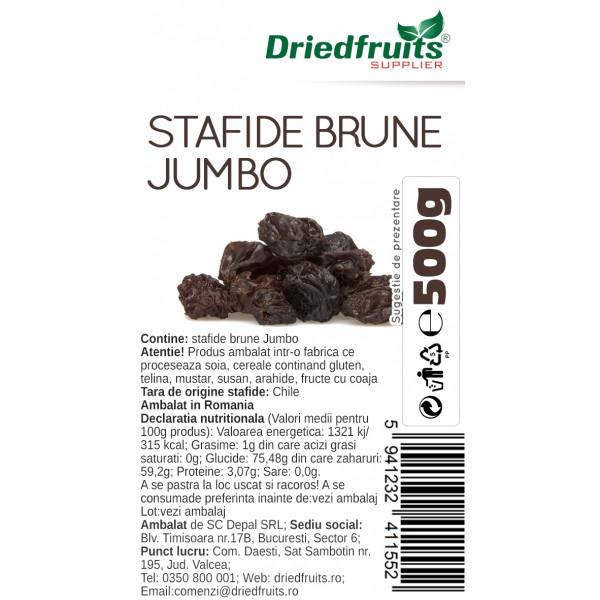 Stafide brune deshidratate Jumbo Chile Driedfruits - 500 g
