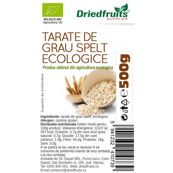Tarate grau spelt BIO - 500 g